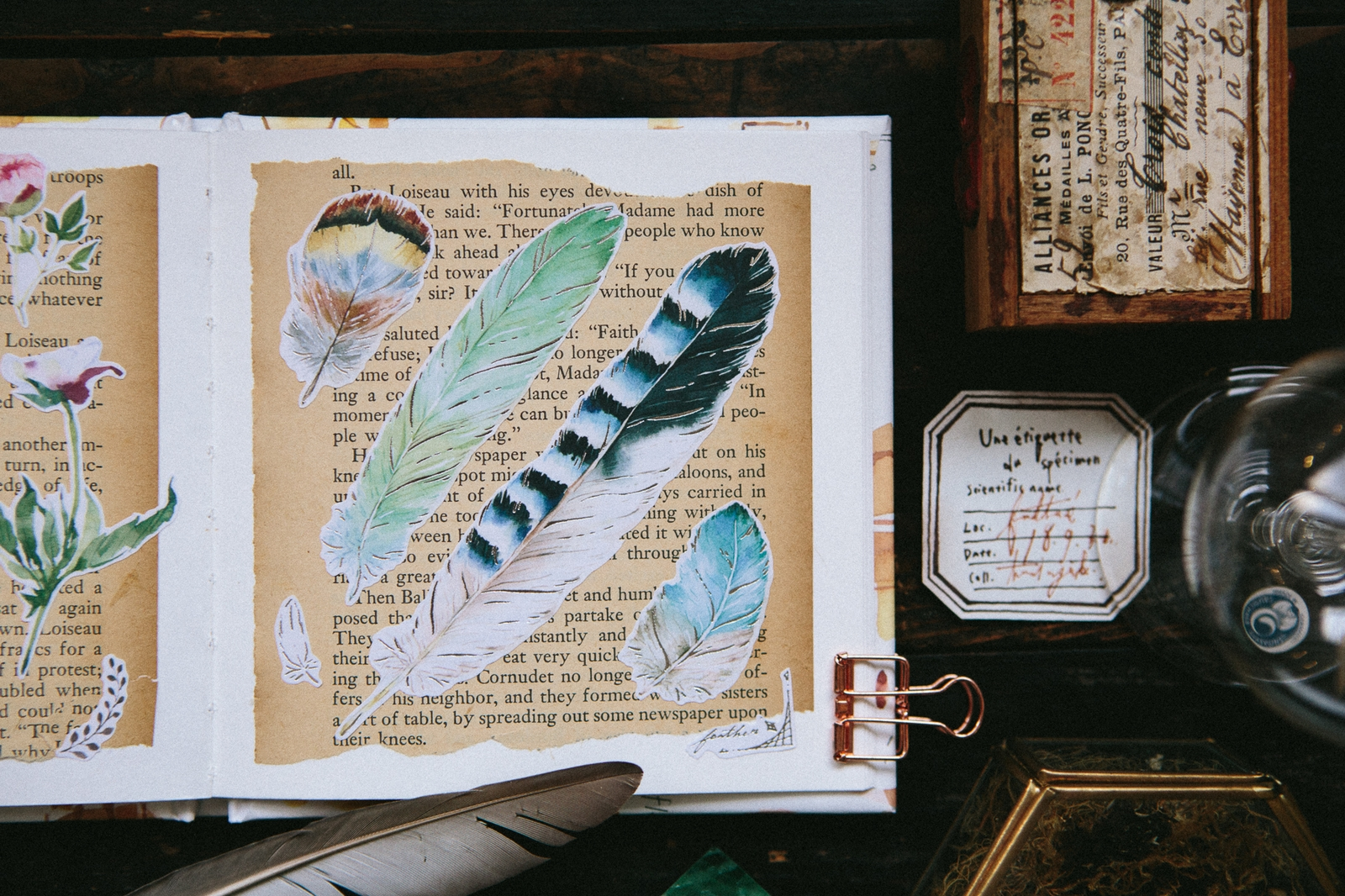 Feather 自剪貼紙