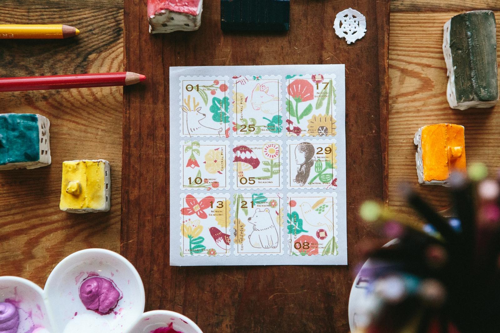 北歐四季春天 - 郵票貼紙