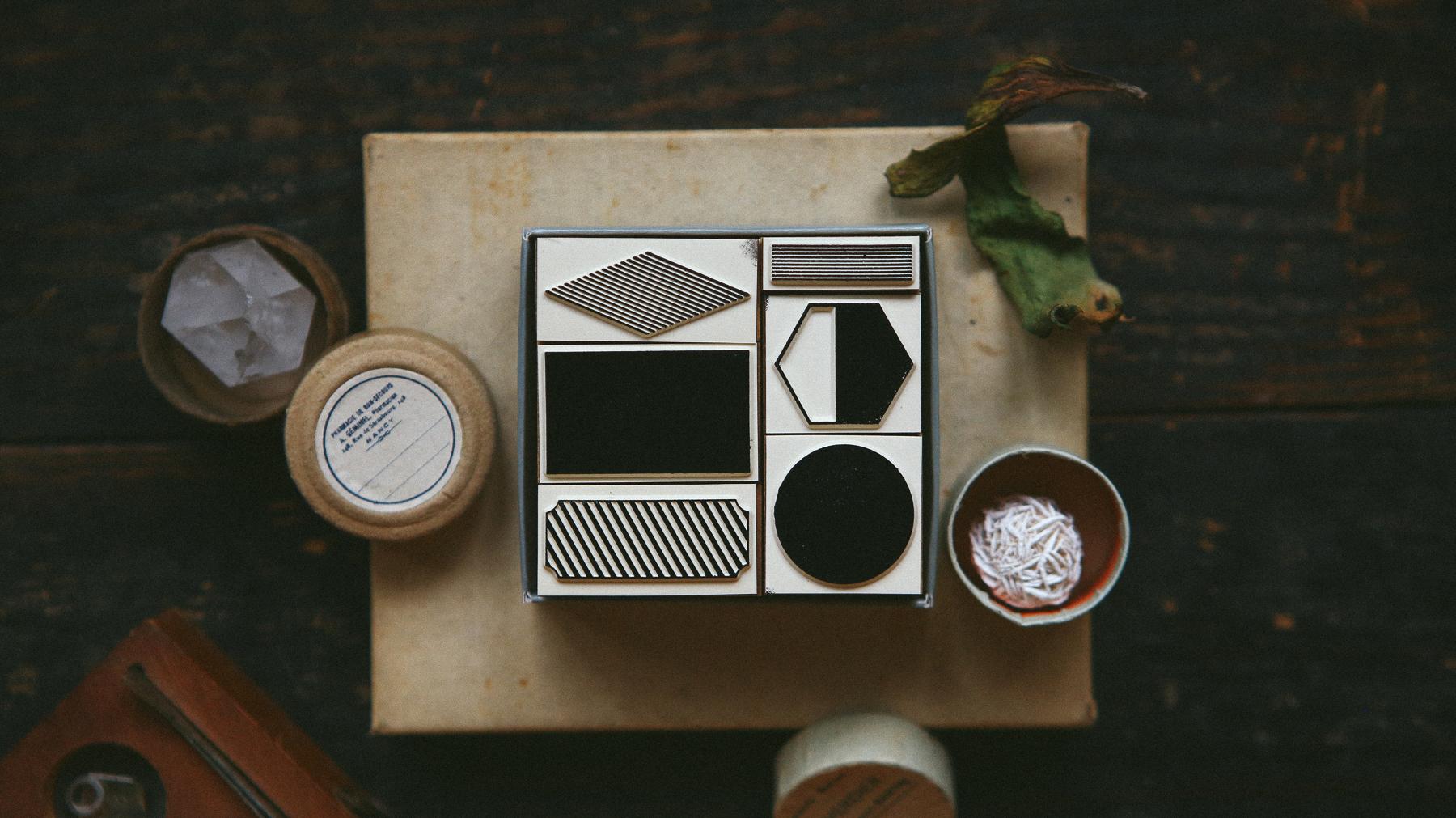 幾何色塊2 DIY自黏印章組