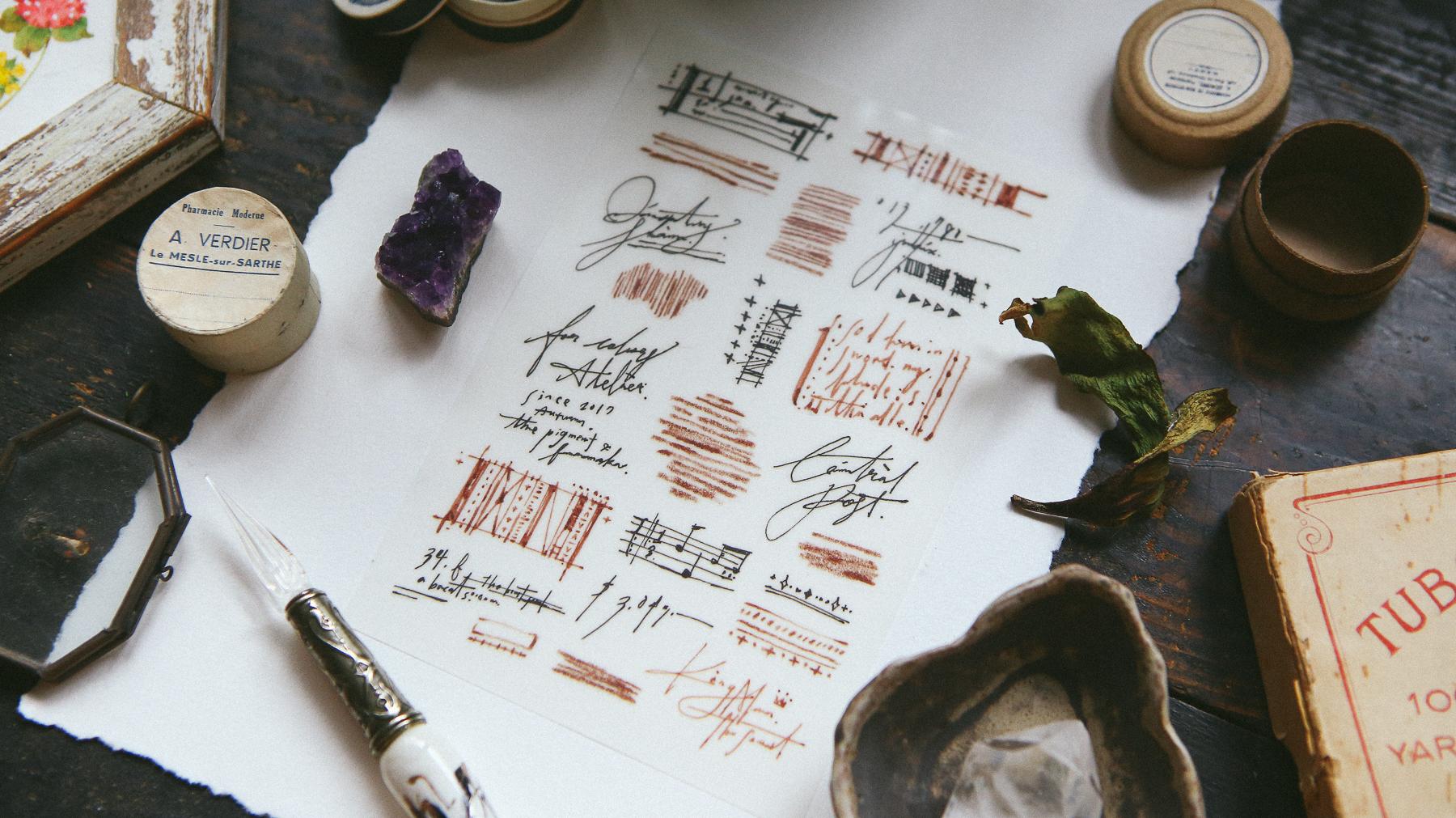 草寫文字 轉印貼紙